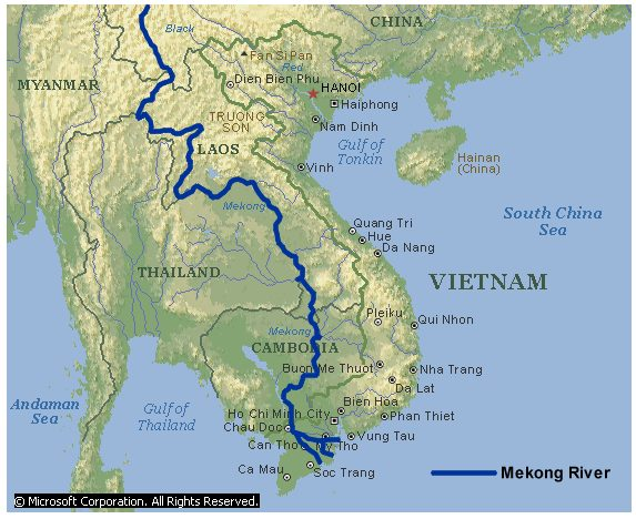 Mekong River Map Discription