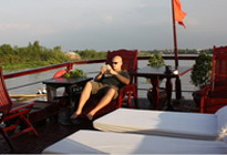 private Douce Mekong cruise Sundeck