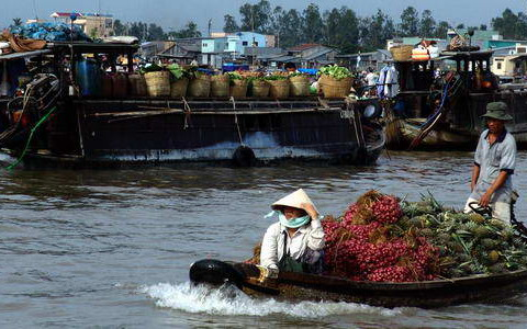 Private douce cruise Mekong-cantho-floating-market