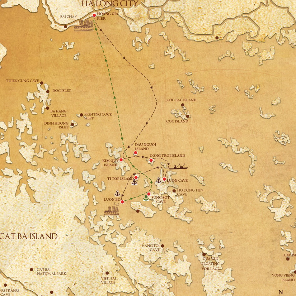 indochina sail map