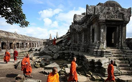 Angkor Wat and Monks