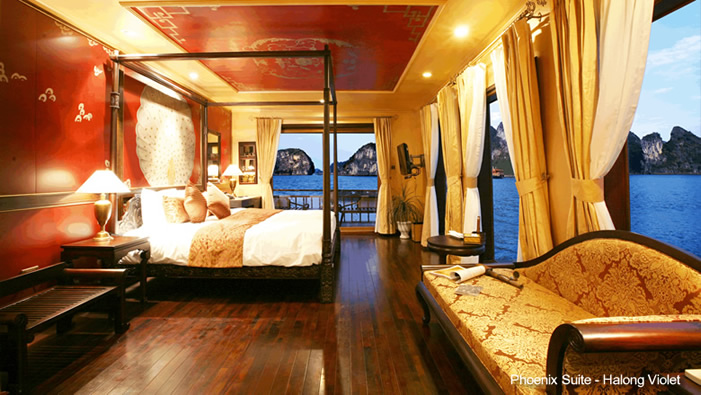 Halong Bay Violet Cruise Phoenix suite